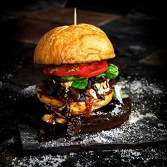 Swiss Steak Burgers with Sautéed Red Wine Onions and Garlic | A Bachelor and His Grill