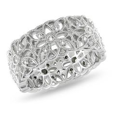 Amour Collection Sterling Silver Diamond Ring (.3 Cttw, H-I Color, I3 Clarity) $144.00