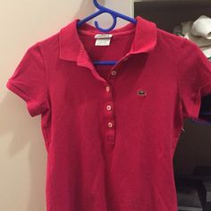 Polo Lacoste Hot pink fitted tee Lacoste Tops Tees - Short Sleeve