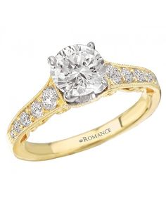 Solitaire Semi-Mount Diamond Ring from Love My Romance.
