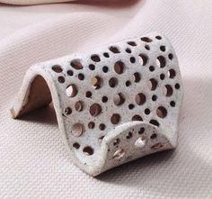 Business Card Holder Stoneware Clay in White by LisaMelitaArt, $12.00