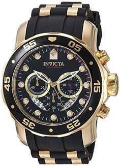 Discounted Invicta Men's 6981 Pro Diver Analog Swiss Chronograph Black Polyurethane Watch