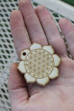Flower of life lotus pendant
