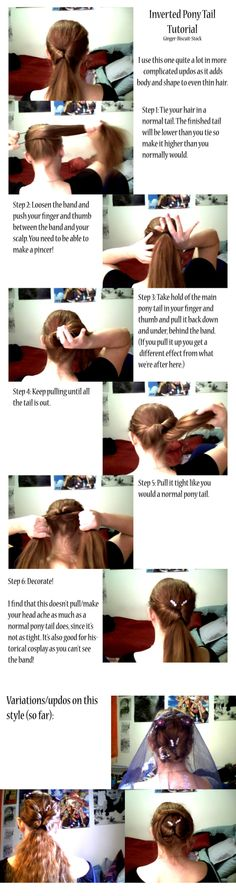 inverted ponytail, I just did this for work