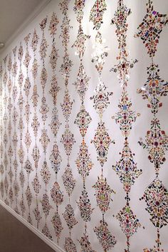 Vintage//retro Floral Trellis unused wall paper//wallpaper roll 53cm  x 10 metres
