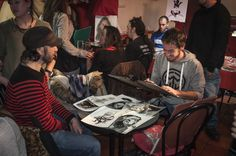 Primer Festival de la Caricatura y el Retrato en Café-Pub Living Room. 2016