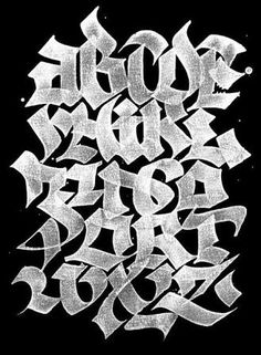 Now say your abc's. ABC-BOOK by Julien Priez, via Behance This more graffiti like style uses a modern attempt to create blackletter. the reverse coloring of white on black draws the viewer in even more. Graffiti Lettering Alphabet, Tattoo Fonts Alphabet, Tattoo Lettering Fonts, Graffiti Font, Graffiti Drawing, Lettering Styles, Typography Letters, Grafitti Letters, Typography Served
