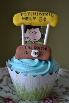 Lucy..the Doctor is In...Peanuts Cupcake, #cupcakes, #cupcakes,