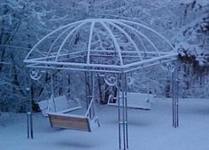 Dr. Zuckermans Garden Dome Gazebo with bench swings in Alaska