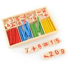 52 tellen stick houten wiskunde materiële educatief speelgoed voor kind kind freeshipping