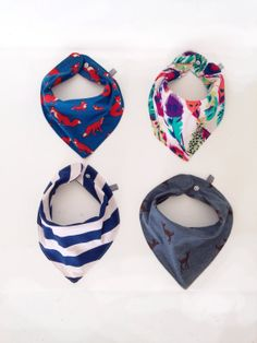 Baby Bib Bandanas!   Much cuter than the normal old fashioned ones!