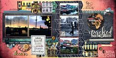 Double-page layout by Glenda Viljoen with the GO SEE DO collection.