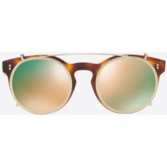 Valentino Occhiali Acetate Sunglasses (€340) ❤ liked on Polyvore featuring accessories, eyewear, sunglasses, glasses, dark brown, rimmed glasses, logo lens sunglasses, valentino eyewear, see through sunglasses and logo sunglasses