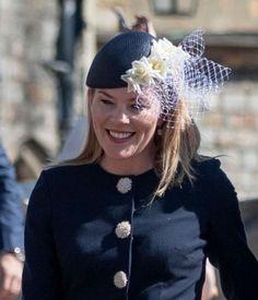 Apr 2019 in Julian Garner Leather Flowers, Silk Flowers, Autumn Phillips, Lady Louise Windsor, Cream Coat, Navy Floral Dress, Diy Hat, Princess Anne, Beautiful Lines