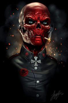 The Red Skull Found on liquid-venom.deviantart.com