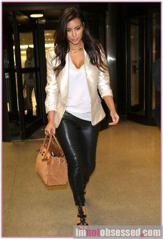 Kim Kardashian - Gold Blazer - Great for the Holidays    80      27
