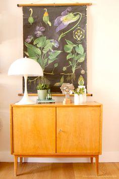 Styling a midcentury lemonwood buffet » Emerald Green Interiors