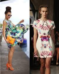 watercolour digital print dresses
