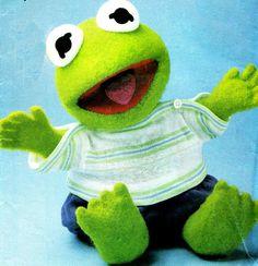 1980s Vogue 8966 Muppet Babies Kermit The Frog by paneenjerez, $14.00