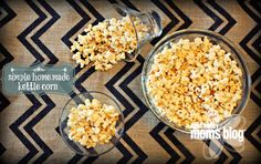 Simple Homemade Kettle Corn. All you need is: Deep cooking pot 1/4 C Sugar 1/4 C Coconut oil 1/2 C Popcorn kernels.