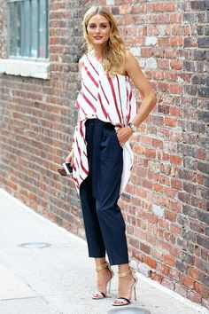 Olivia Palermo in striped top