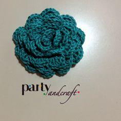 crochet white flower hair clips @Valeria Buccheri valeria Buccheri