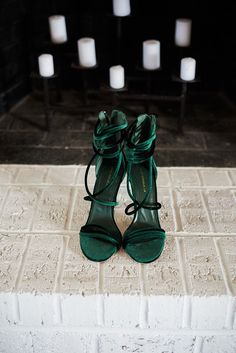 Emerald and Blush Jewel Tones are Always in Season : Creative Wedding Ideas and Event Design Dr Shoes, Cute Shoes, Me Too Shoes, Emerald Shoes, Pastel Outfit, Shoe Closet, Jewel Tones, Shoe Game, Wedding Shoes