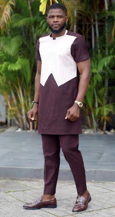 AmDiddy African Attire For Men, African Men Fashion, Woman Fashion, Men's Fashion, Nigerian Men, African Shirts, Menswear, Normcore, Kaftans
