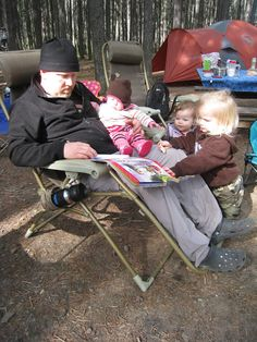 Camping with toddlers- lots of ways to keep them entertained and busy.