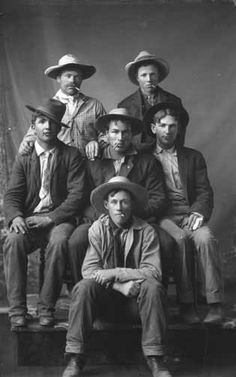 Oregon toughs, circa 1900. Cigarettes and hats required.