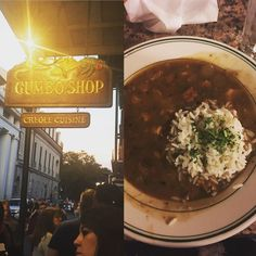 Waited in a queue for about 45mins for this gumbo. It was worth it! #gumbo #gumboshop #dinner #saturdaynight #neworleans #longweekend #nola #frenchquarter #royalstreet #foodstagram #instafood by nikollet