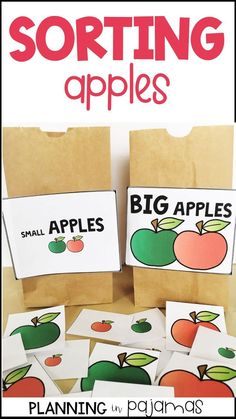 Apple Sort By Size - Big and Small