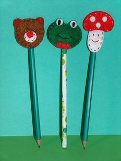 Pencil with felt Christmas tree mushroom frog by SALENTOFELTSHOP, €4.00