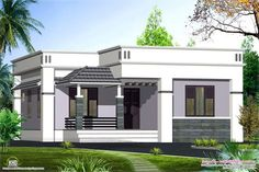 Home design outside small house outside design exterior design for. Modern Bungalow House Design, Single Floor House Design, Simple House Design, Bungalow Homes, Home Design, Modern Design, Layout Design, Design Ideas, Flat Roof Design