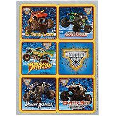 Monster Jam 3D Sticker Sheets