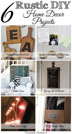 6 Rustic DIY Home Decor Projects