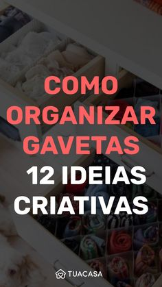 12 dicas para organizar gavetas do jeito ideal Small Space Organization, Home Organization Hacks, Kitchen Organization, Diy Bedroom Decor For Teens, Personal Organizer, Girl Bedroom Designs, Diy Storage, Clean House, Cheap Kitchen