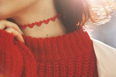 Red heart Chocker! Chocker, Find Picture, Detail, Tattoos, Heart, Red, Outfits, Color, Women