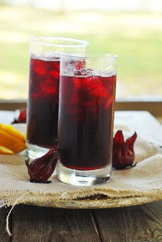 Jamaican Sorrel Drink, a popular drink in Jamaica during Christmas time. It is also healthy for you! I love to drink it all year round.