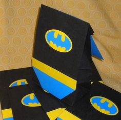 Treat bags with capes . . . and bat briefs. LOVE!