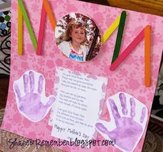 Share and Remember: Mother's Day Projects~Part 1