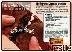 Double Chocolate Brownie recipe (1982)