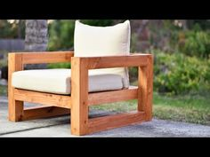 DIY Modern Outdoor Chair - YouTube
