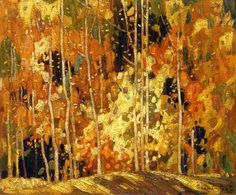 Quality print by Group Of Seven artist Franklin Carmichael - Autumn Tapestry; Available framed, giclee canvas. Made In Canada. Group Of Seven Artists, Group Of Seven Paintings, New Artists, Emily Carr, Canadian Painters, Canadian Artists, Franklin Carmichael, Tom Thomson Paintings, Autumn Trees