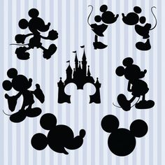Mickey Mouse svg sagoma pack - Mickey clipart digitale Scarica png, svg, dxf, eps