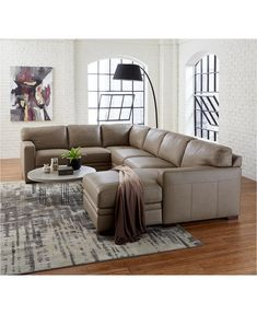 The leather fabric has many advan. Grey Leather Sectional, Sectional Sleeper Sofa, Living Room Sectional, Leather Sectionals, Pit Sofa, Living Rooms, Gray Sectional, Sectional Furniture, Leather Ottoman