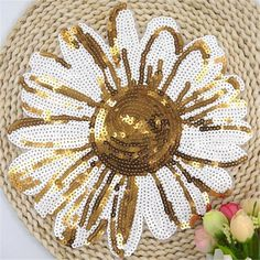 Taiyanfa flower Patch sequins embroidered patches for clothes DIY ...