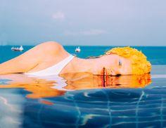 Pooltime by Elizaveta Porodina Swimming Pool Photography, Swimming Pool Photos, History Of Photography, Fine Art Photography, Portrait Photography, Photography Ideas, Shows Like Stranger Things, Pool Fashion, Fashion Photo