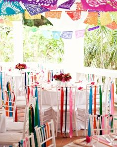 15-fantastic-fiesta-ideas.   Plenty of Color  Get festive with a colorful rainbow pallet. The more vibrant, the better! Learn more at Martha Stewart Weddings