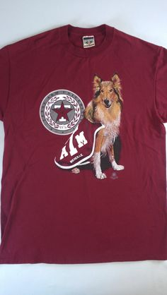 #TexasA&M #Aggies Shirt Mens L/XL Tall Long USA Made http://etsy.me/1JvZDlY #etsy #etsyfind #manziel #johnnyfootball